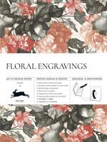 Pepin Press Boek met cadeaupapier FLORAL ENGRAVINGS