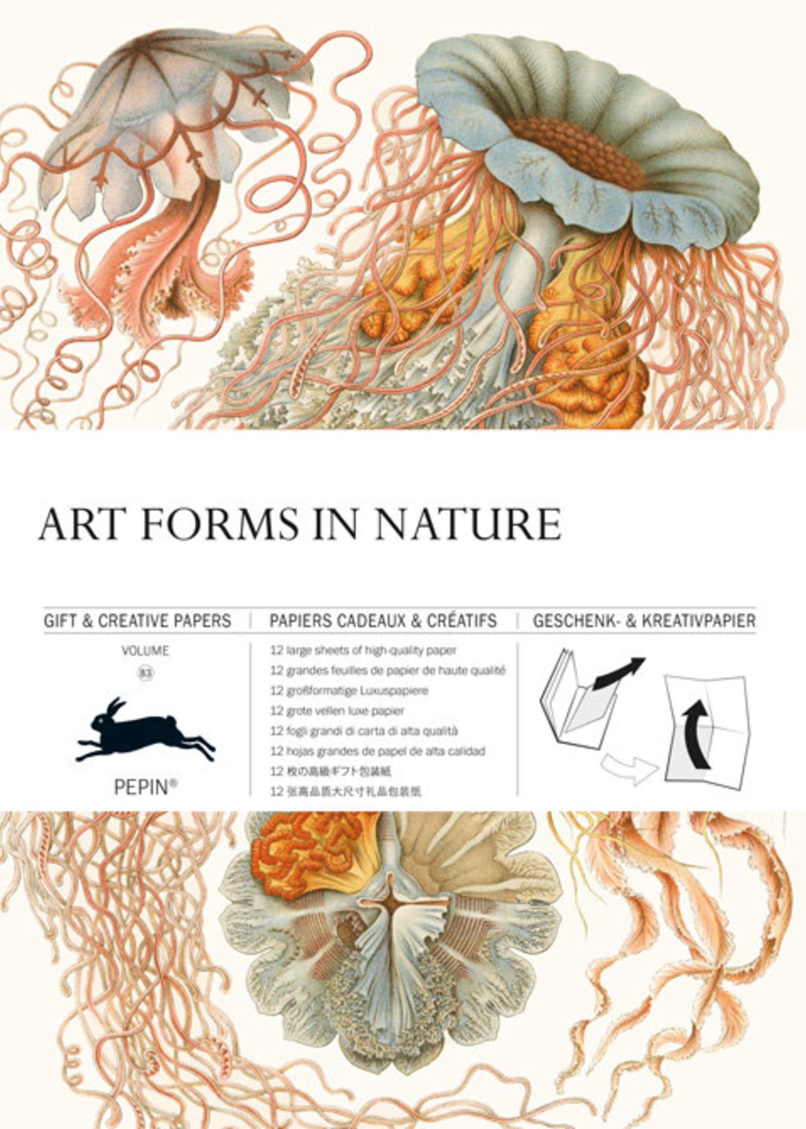 Pepin Press Boek met cadeaupapier ART FORMS IN NATURE