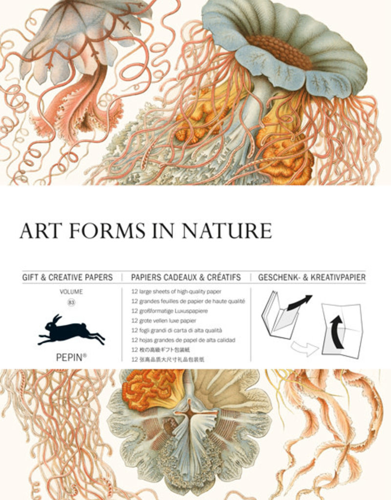 Pepin Press Boek met cadeaupapier ART FORMS IN NATURE