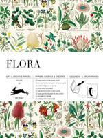 Pepin Press Boek met cadeaupapier FLORA