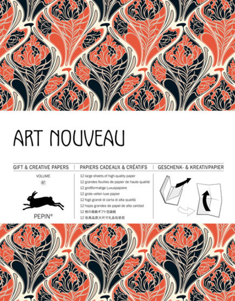 Pepin Press Boek met cadeaupapier ART NOUVEAU