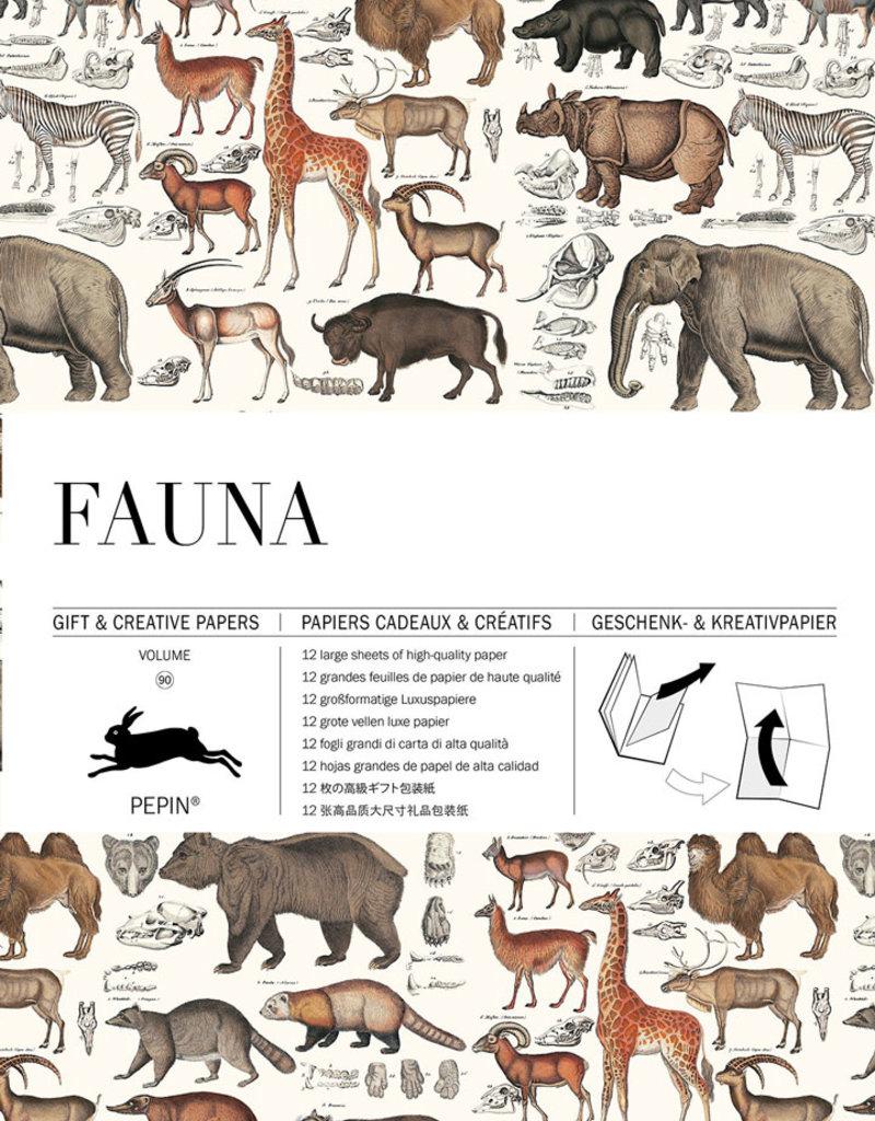 Pepin Press Boek met cadeaupapier FAUNA