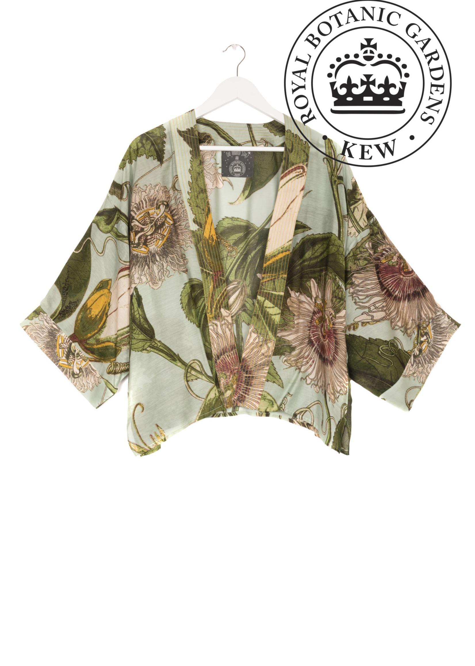 One hundred Stars Korte Kimono PASSIEBLOEM aqua