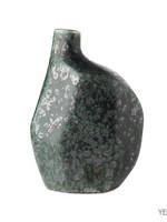 Asiatides Vaas organische vorm GROEN Antraciet h17 cm