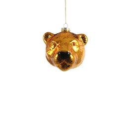 House of Seasons Ornament Tijgerkop Goud glas