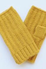 Lisa Angel Handschoen vingerloos  GEEL