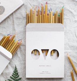 OVO Verjaardag kaarsjes van Bijenwas 20 stuks