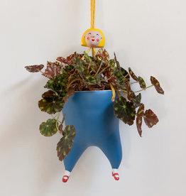 Tanata Hangende Plant pot vrouw BLAUW