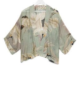 One hundred Stars Kimono KRAANVOGEL aqua