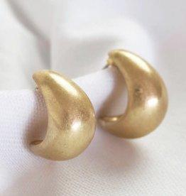 Lisa Angel Oorbellen puffed ring GOUD