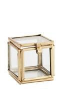 Madam Stoltz Mini doosje glas 3.5x3.5x3.5 cm GOUD