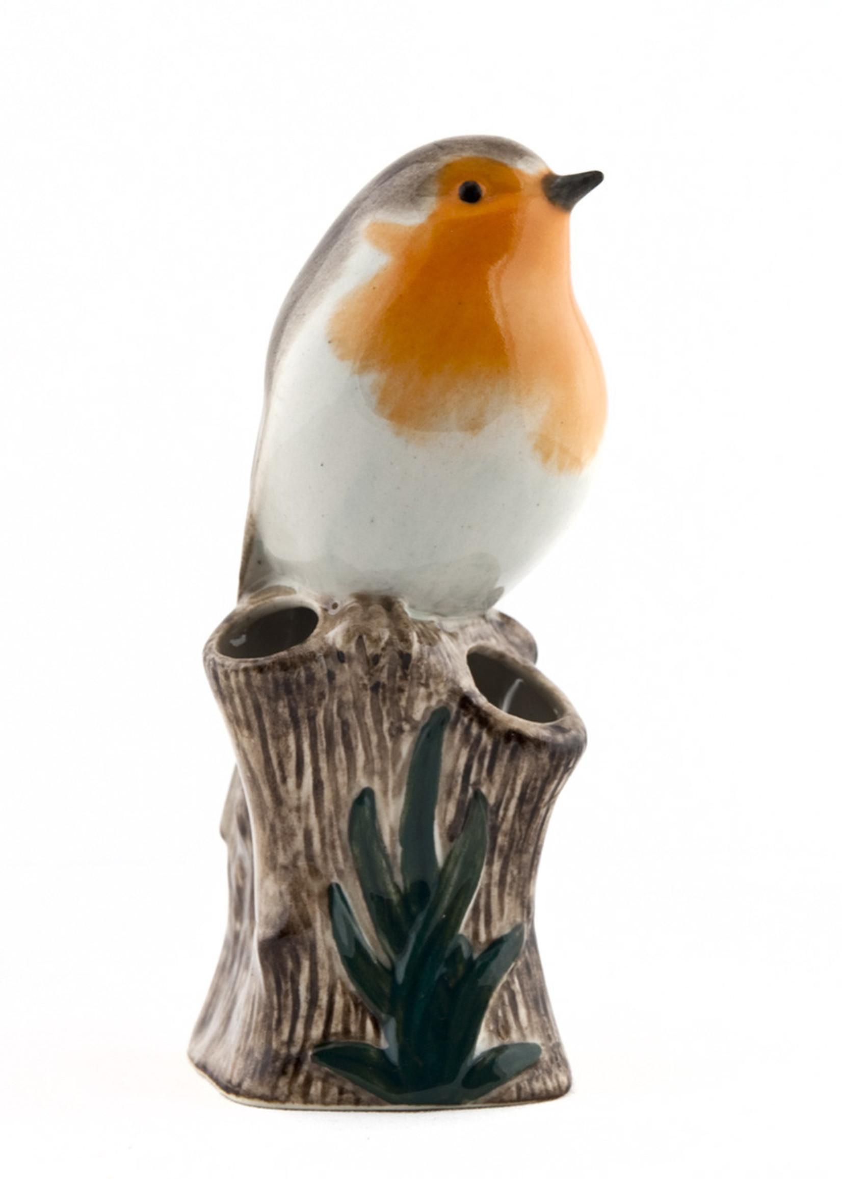 Quail Vaasje ROODBORSTJE robin