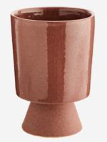 Madam Stoltz Plant pot op voetje ROZE large