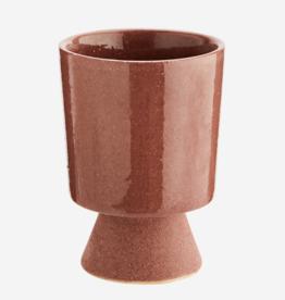 Madam Stoltz Plant pot op voetje ROZE medium