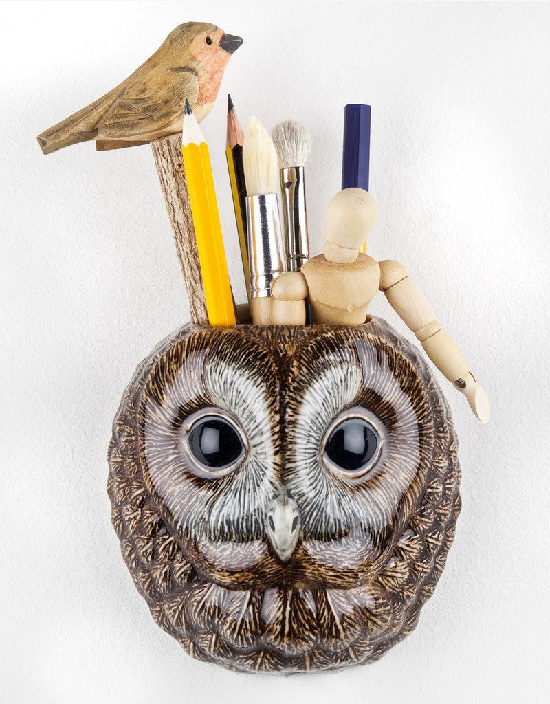 Quail Wandvaas BOS UIL tawny owl Small