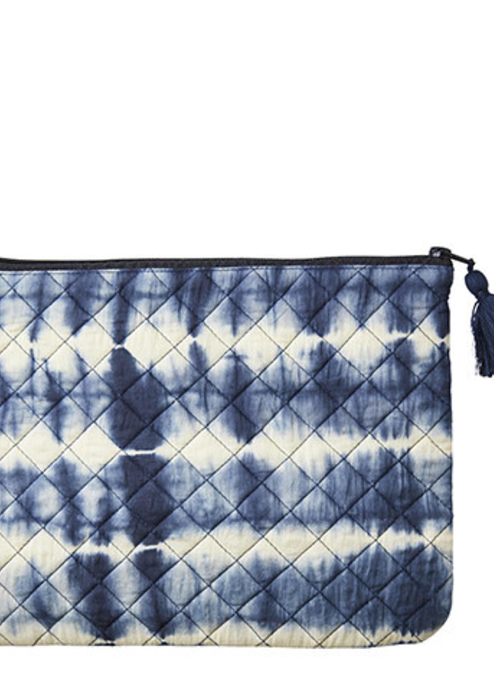 Affari Toilet tas Tie Dye BLAUW 28x22cm
