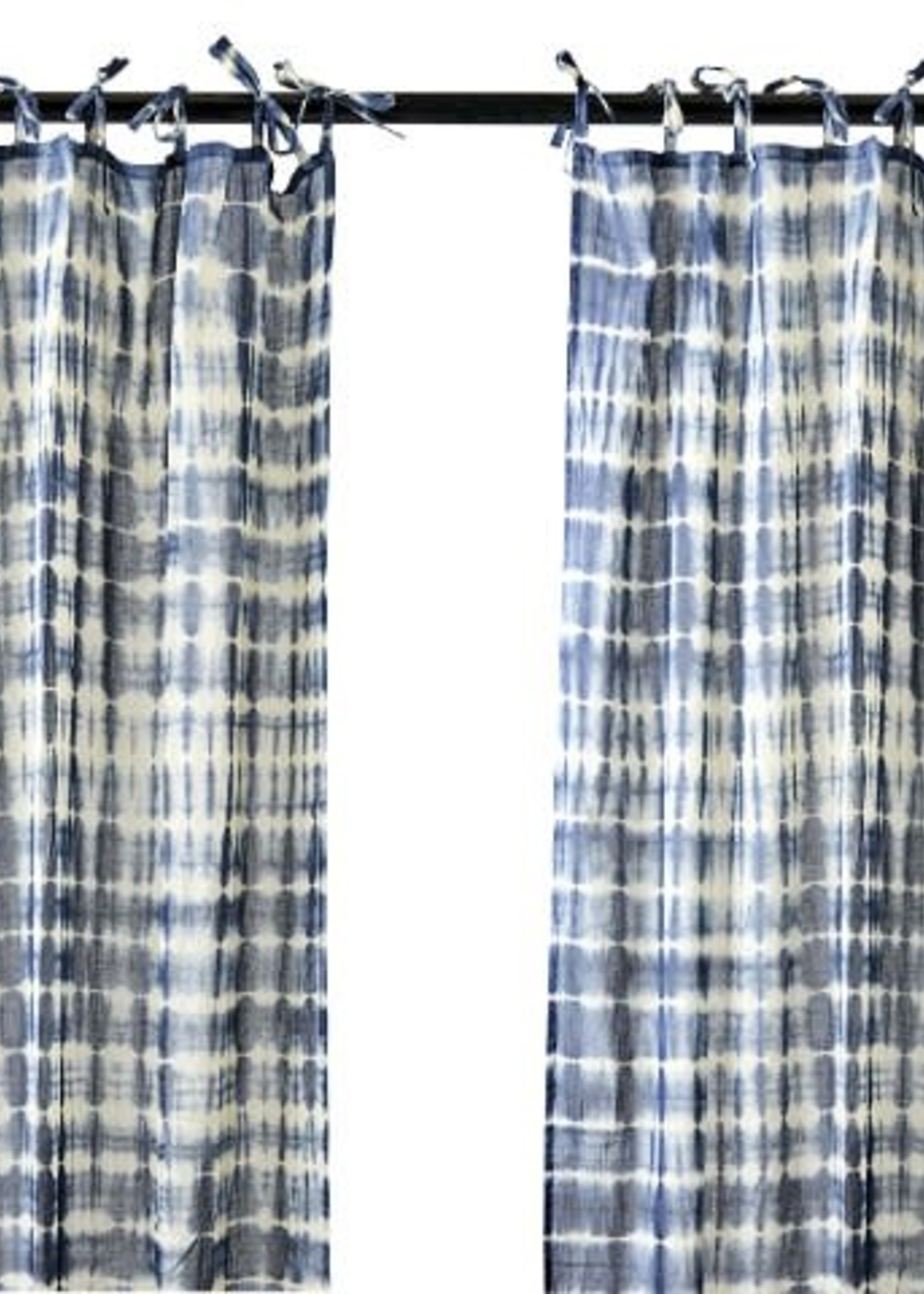 Affari Gordijnen Tie dye BLAUW 100x250cm