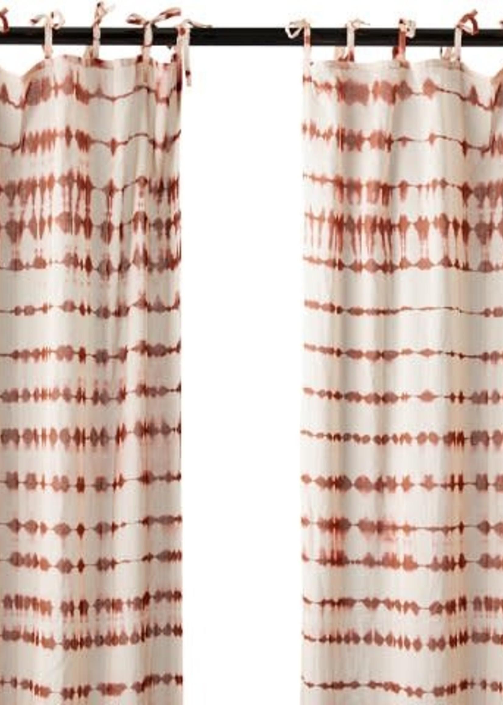 Affari Gordijnen Tie dye ROOD 100x250cm