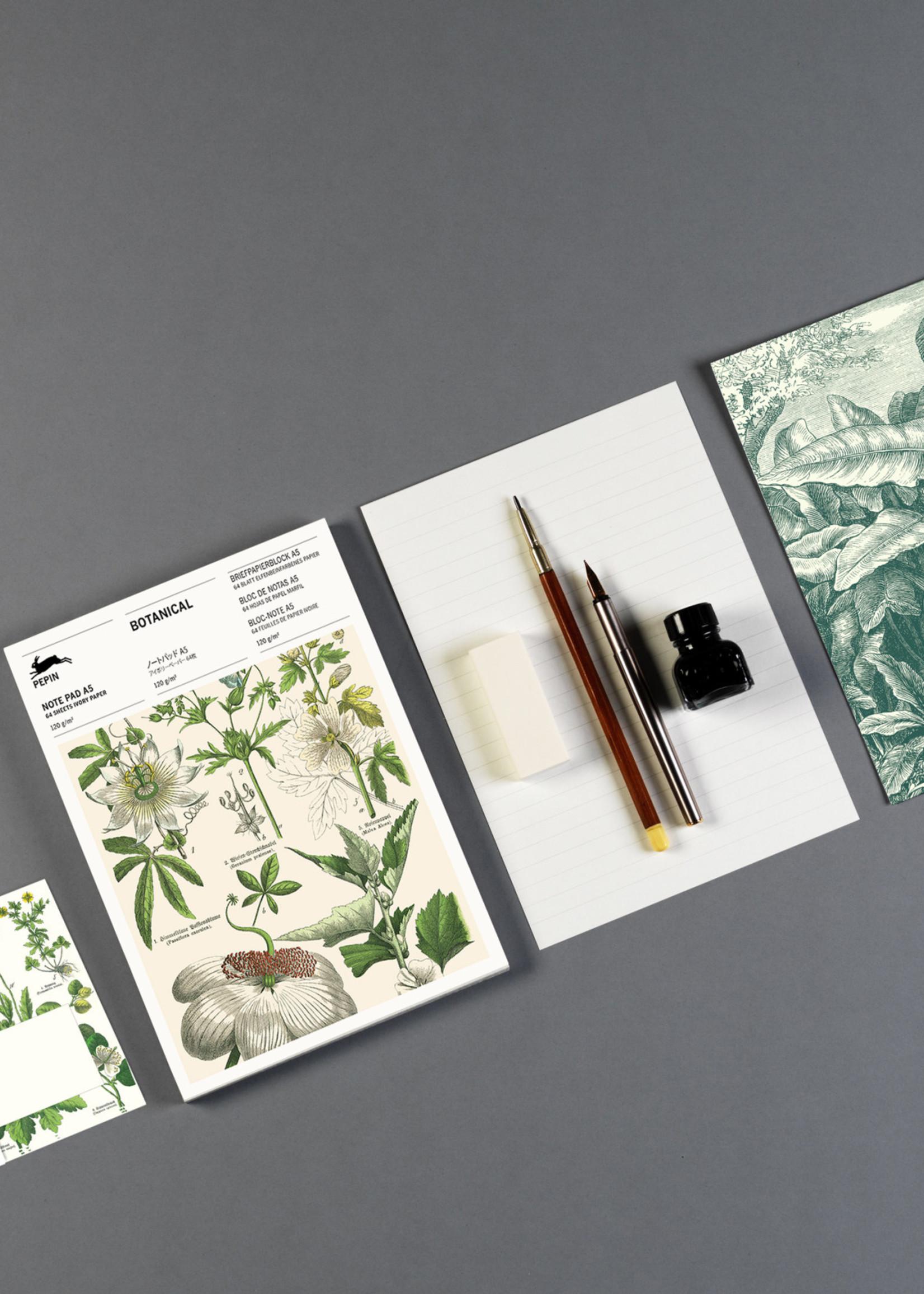 Pepin Press Briefpapier blok A5 BOTANICAL