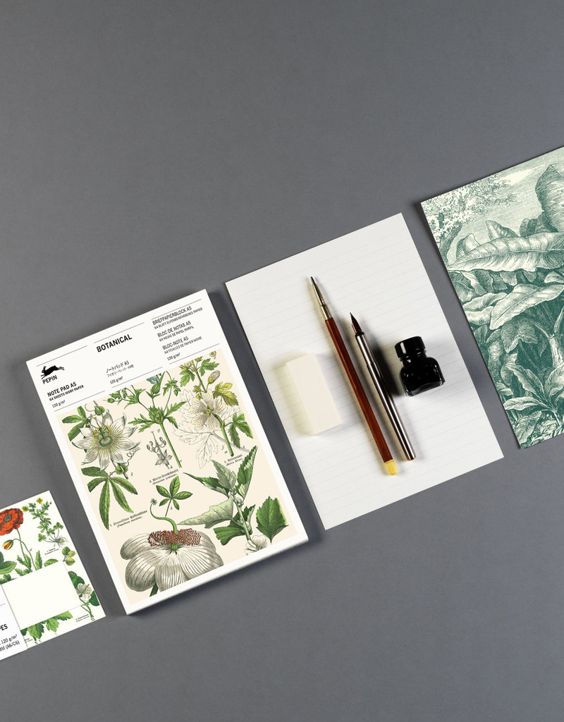 Pepin Press Briefpapier blok A5 BOTANICAL