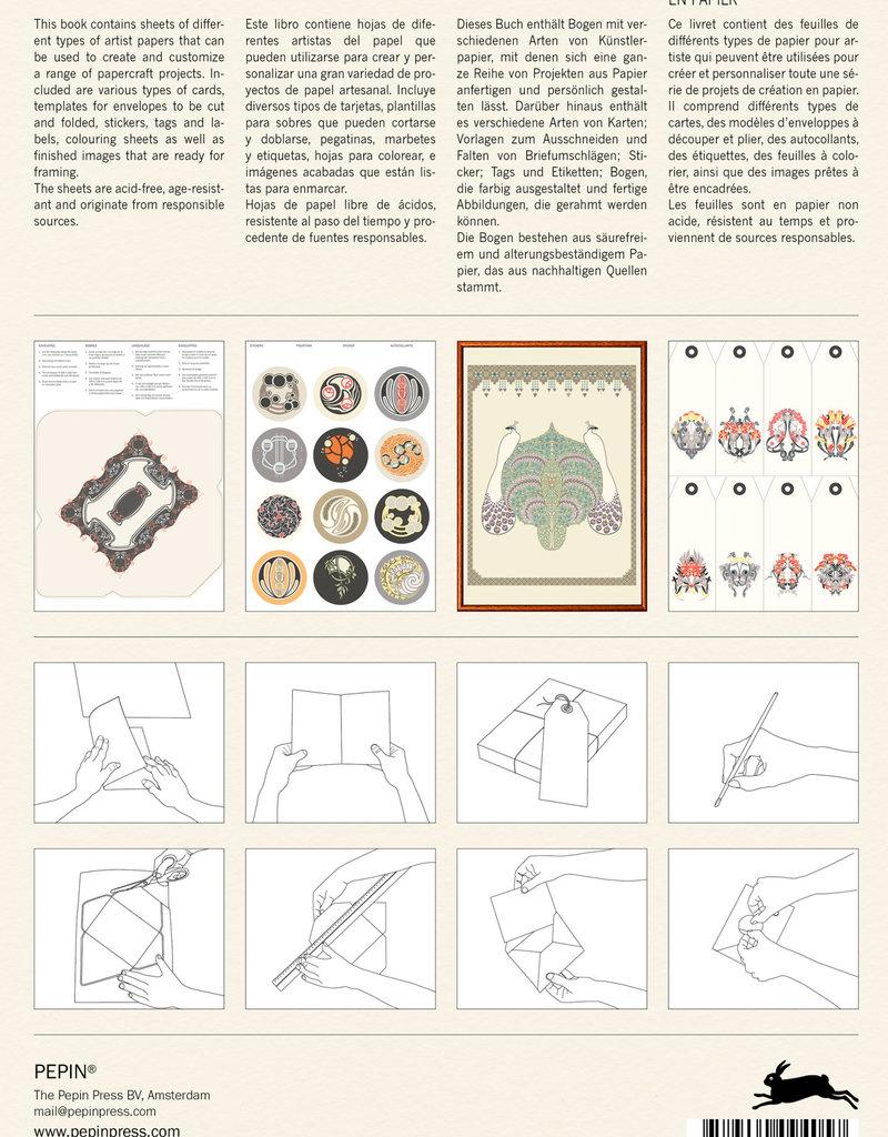 Pepin Press Papercraft Boek ART NOUVEAU