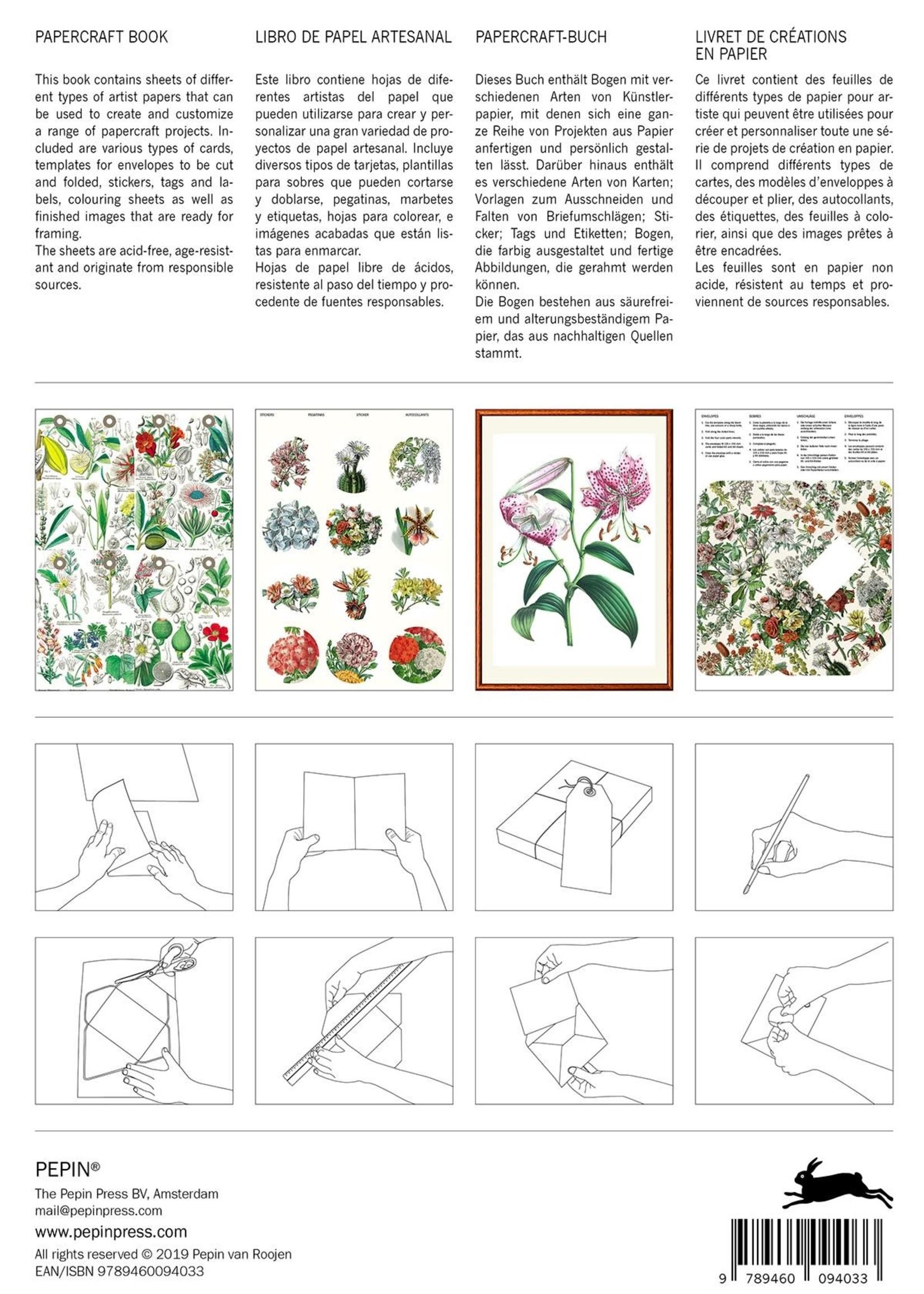 Pepin Press Papercraft Boek FLOWERS