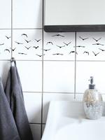 Boubouki Tegelsticker FLOCK vogels set 4