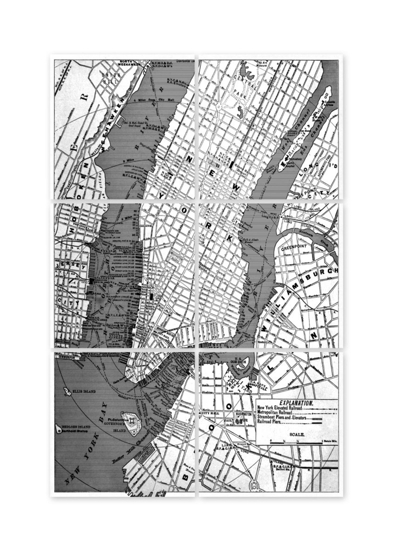 Boubouki Tegelsticker NEW YORK map set van 6