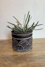 MICA Plant pot ZINK zwart S