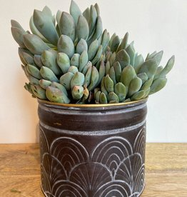 MICA Plant pot ZINK zwart M