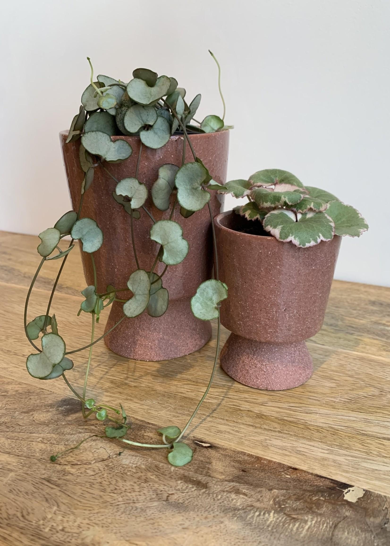 Madam Stoltz plant pot op voetje ROZE 7.5 x 9.5 cm