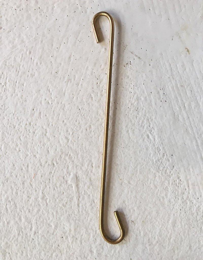 Madam Stoltz Kandelaar ijzeren ring GOUD 30 cm