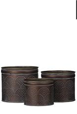 MICA Plant pot ZINK zwart L