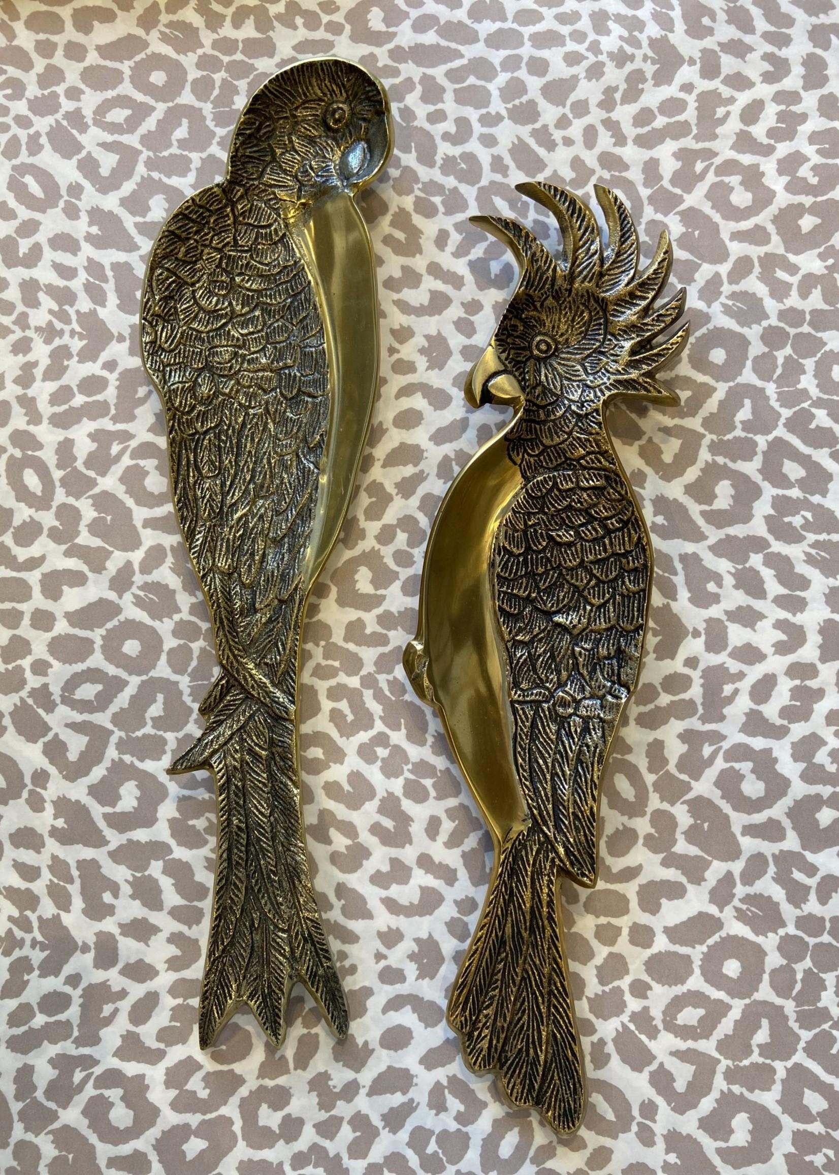 Chehoma Schaal in de vorm van een papegaai KUIF GOUD