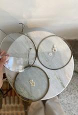 Madam Stoltz Foto lijst ROND 20cm met leren touwtje
