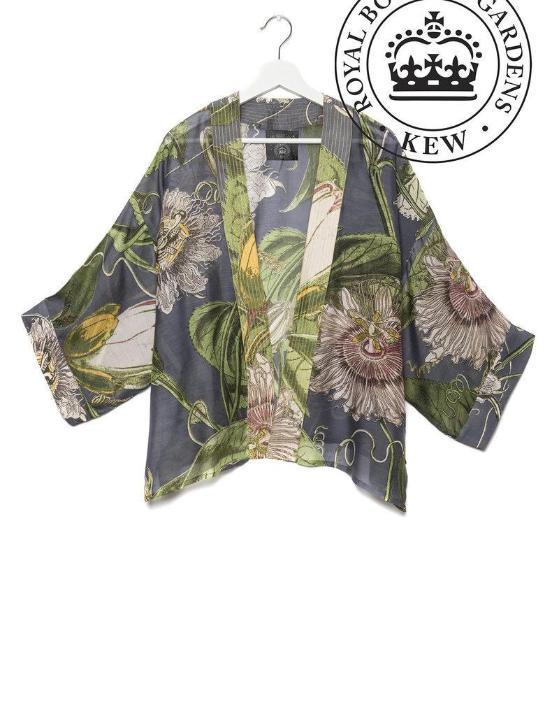 One hundred Stars Kimono PASSIEBLOEM grijs/donker blauw