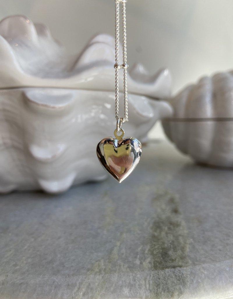 Lisa Angel Ketting medallion hart ZILVER