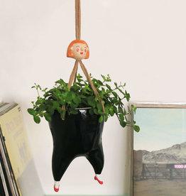 Tanata Hangende Plant pot vrouw ZWART