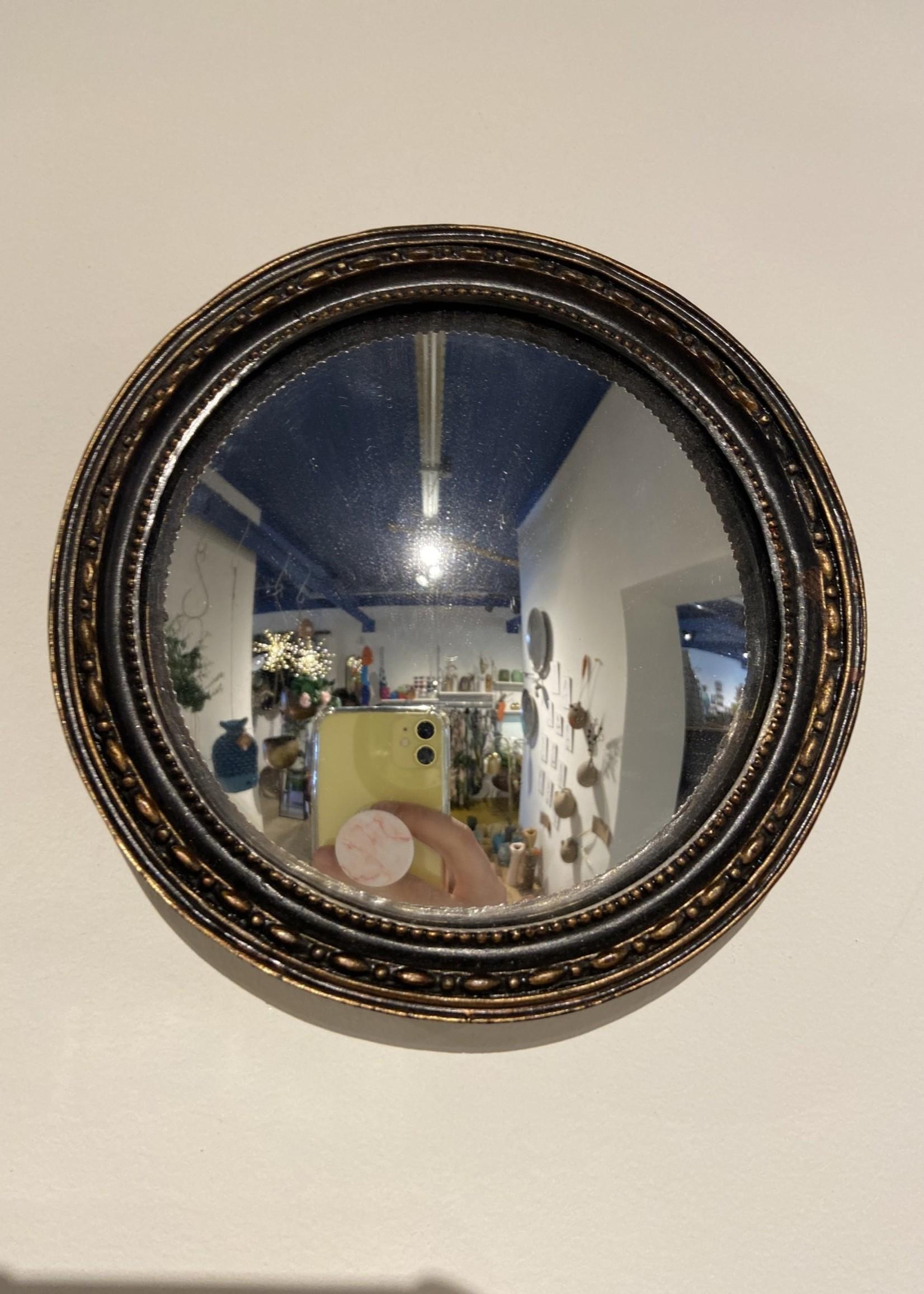 Chehoma Bolle spiegel 13 cm ANTIEK ZWART