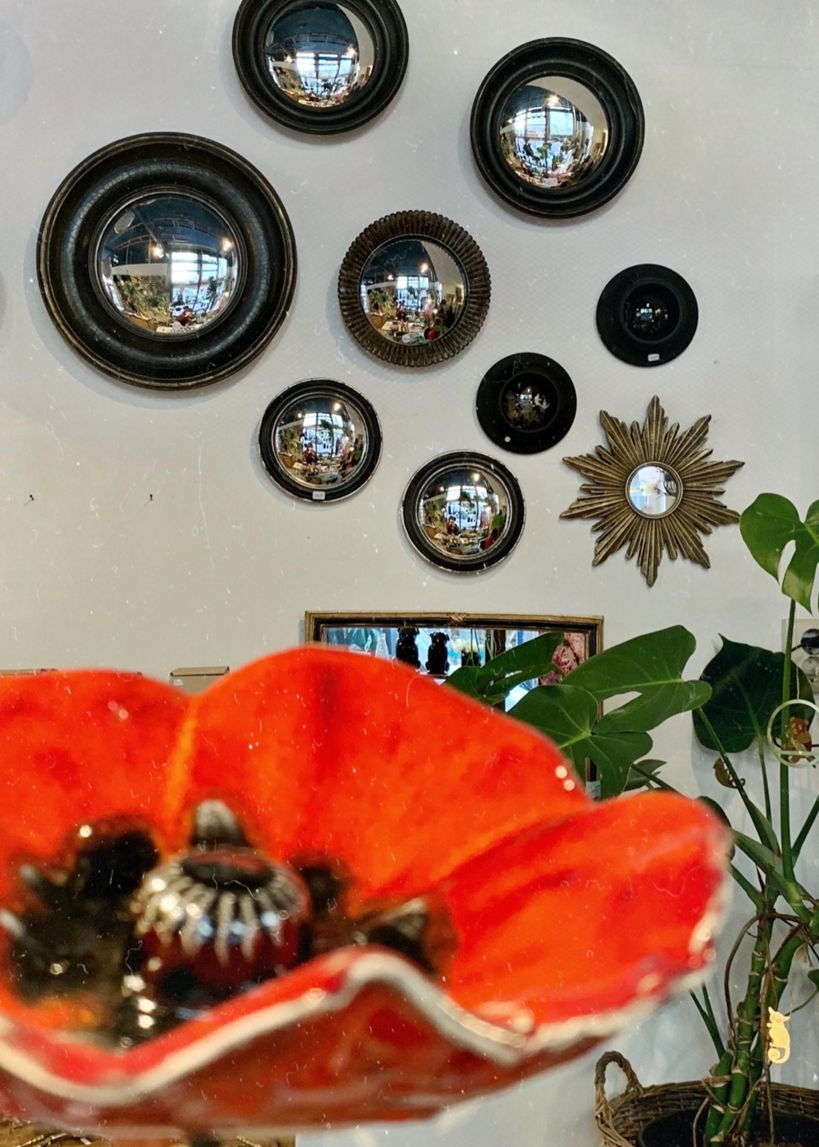 Chehoma Bolle spiegel 19 cm ZWART ZILVER