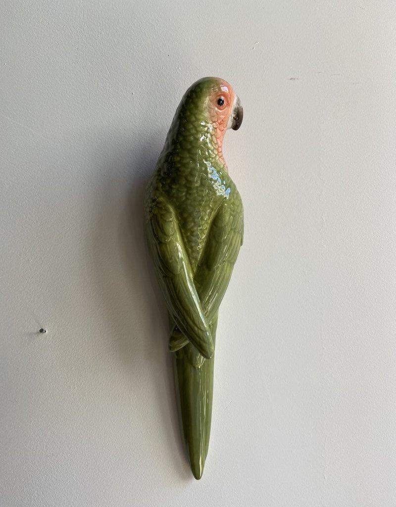 Chehoma Wand papegaai van keramiek 30 cm