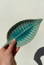 Asiatides Schaal in de vorm van een blad BLAUW 10cm