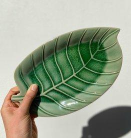 Asiatides Bord in de vorm van een blad GROEN 28,5cm
