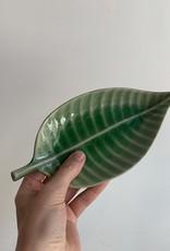 Asiatides Schaal in de vorm van een blad GROEN 10cm