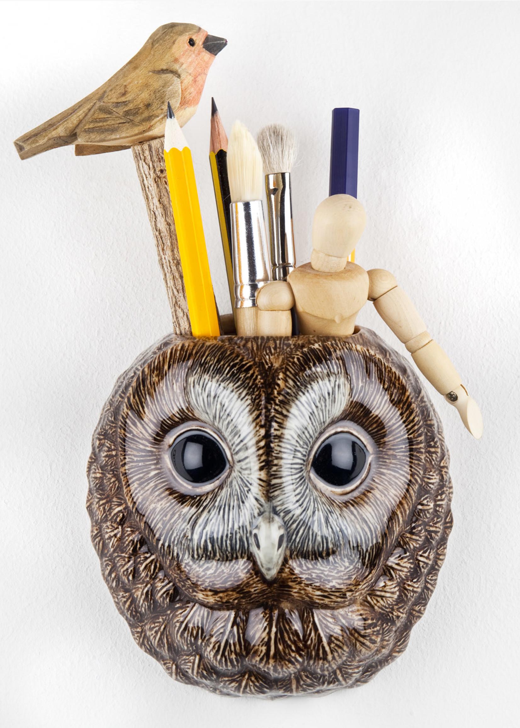 Quail Wandvaas BOS UIL tawney owl