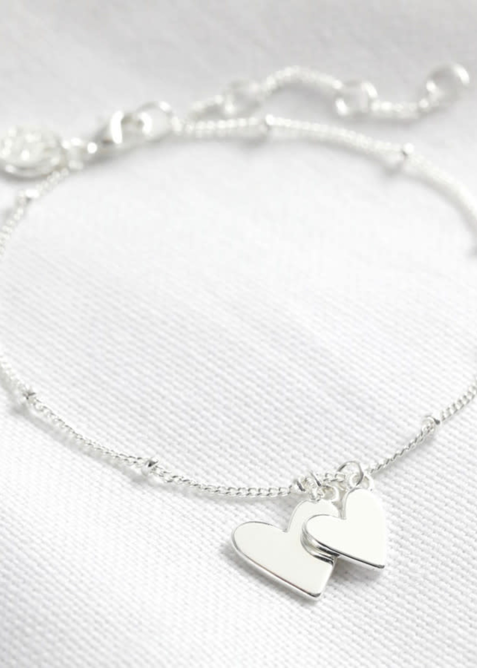 Lisa Angel Armband dubbel hart ZILVER