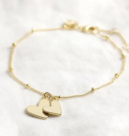 Lisa Angel Armband dubbel hart goud