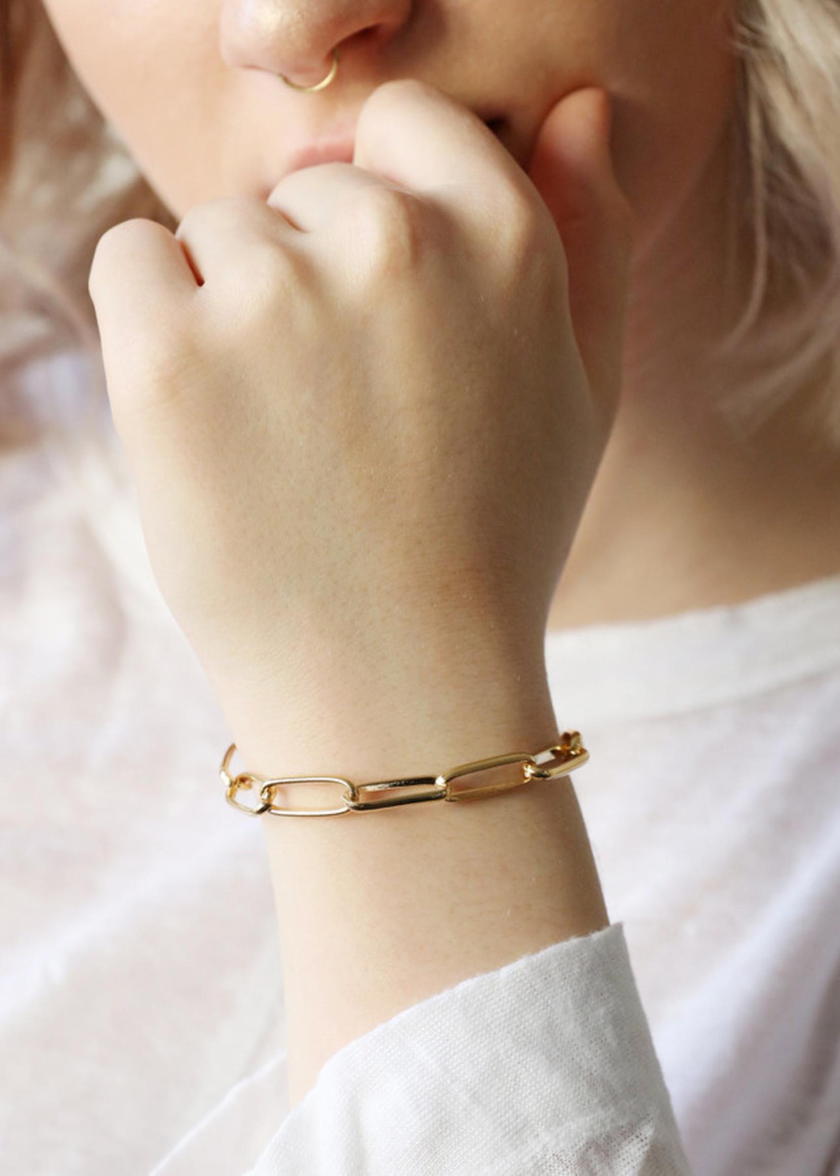 Lisa Angel Armband grote schakel GOUD