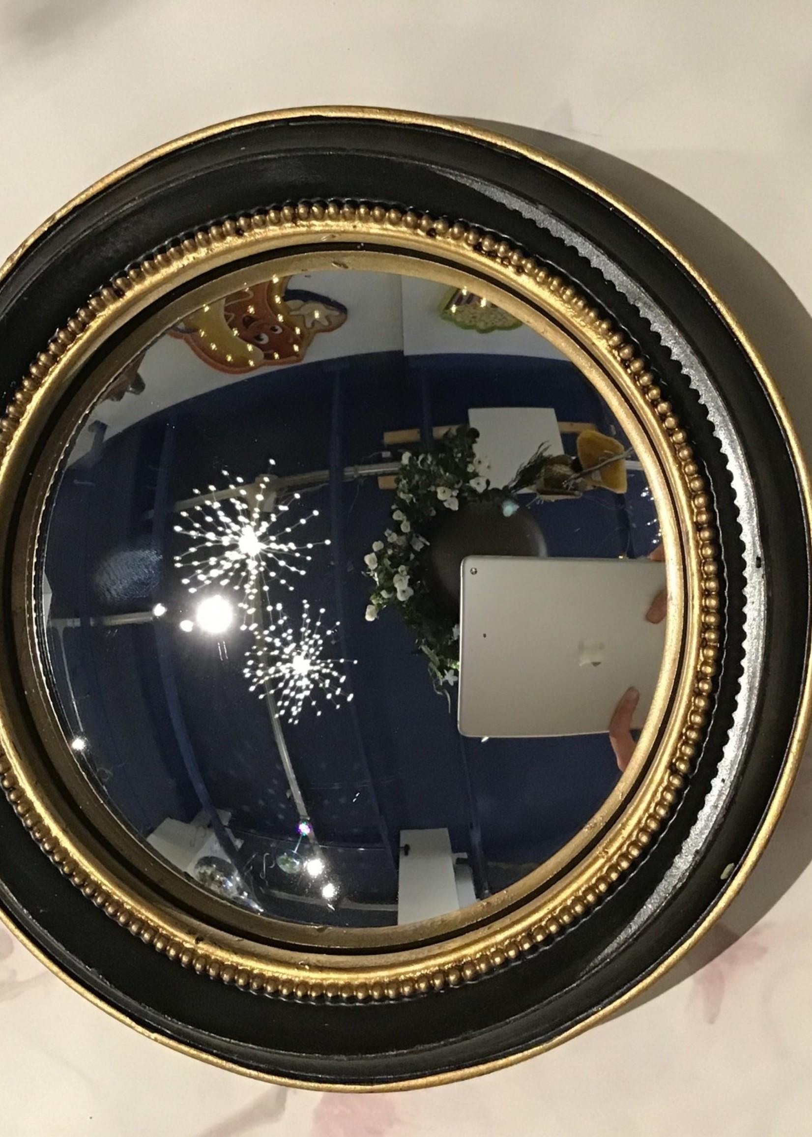 Chehoma Bolle spiegel 19 cm ZWART GOUD