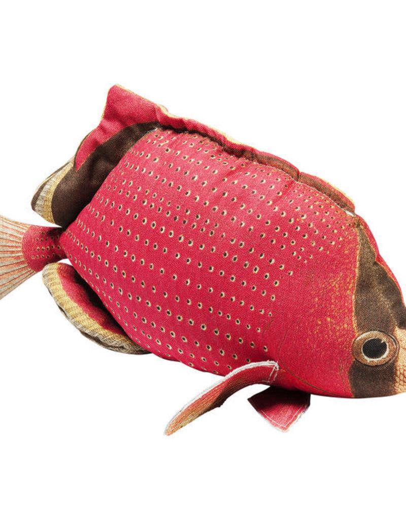 KARE Kussen in vorm van een PLATTE vis ROOD